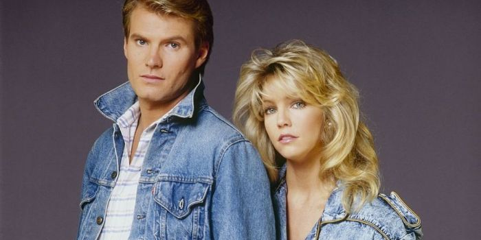 Jack Coleman and Heather Locklear