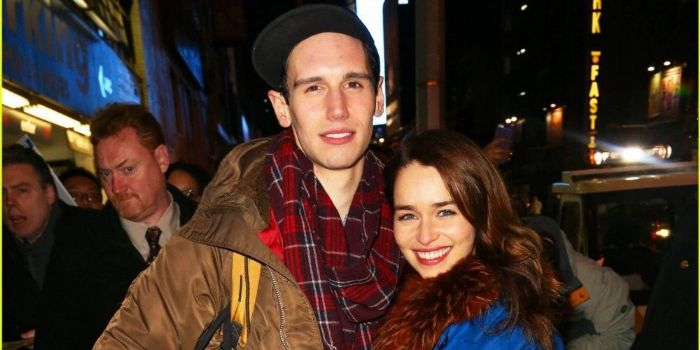 Emilia Clarke and Cory Michael Smith