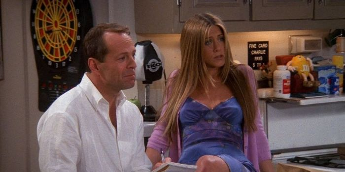 Jennifer Aniston and Bruce Willis