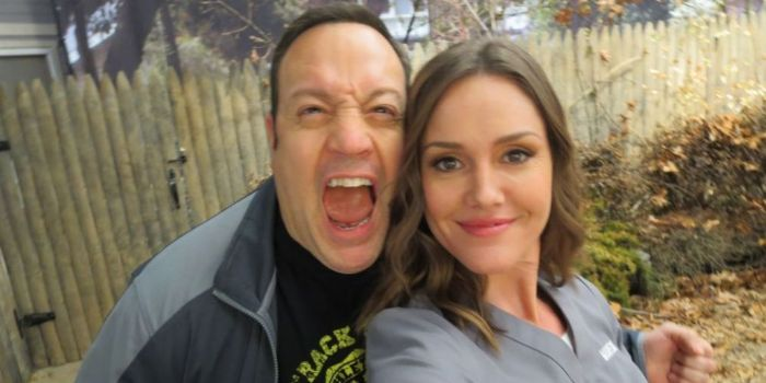 Erinn Hayes and Kevin James