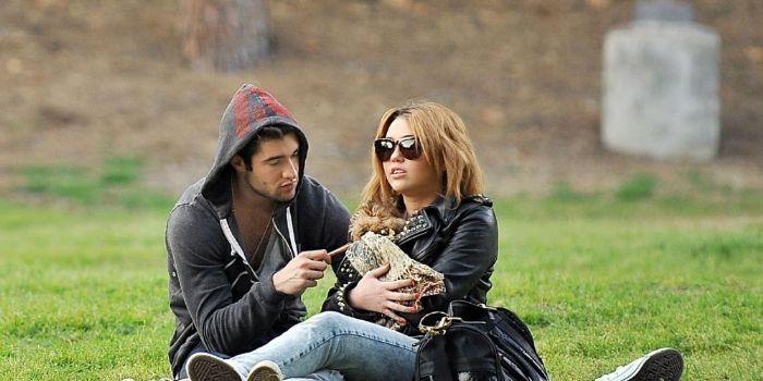 Josh Bowman and Miley Cyrus