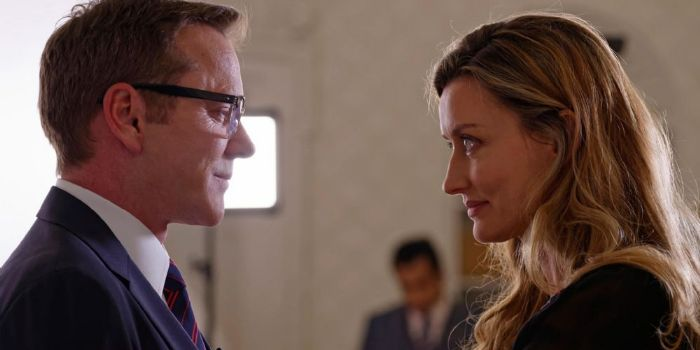 Natascha McElhone and Kiefer Sutherland