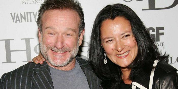 Marsha Garces and Robin Williams