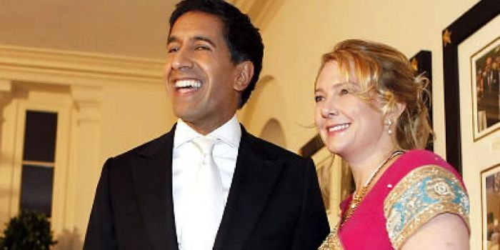 Sanjay Gupta and Rebecca Olson Gupta - Dating, Gossip ...