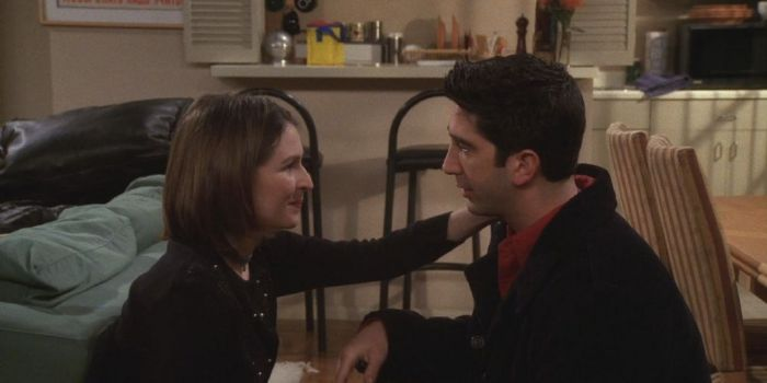 David Schwimmer and Helen Baxendale