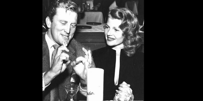 Kirk Douglas and Rita Hayworth