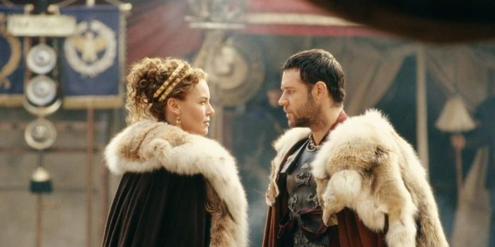 Russell Crowe and Connie Nielsen