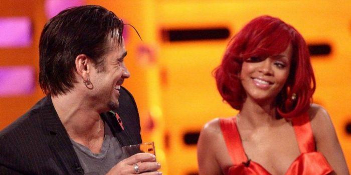Colin Farrell and Rihanna