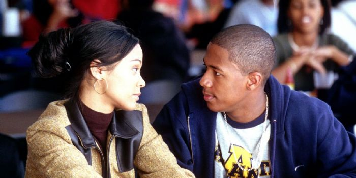 Zoe Saldana and Nick Cannon