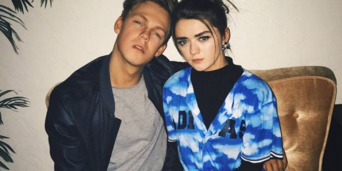 Caspar Lee and Maisie Williams