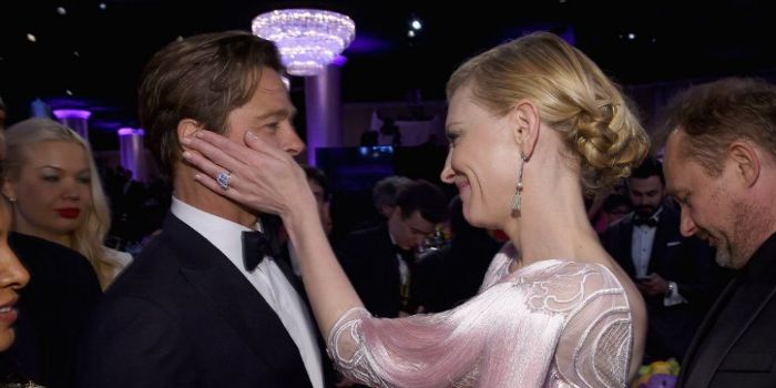 Cate Blanchett and Brad Pitt