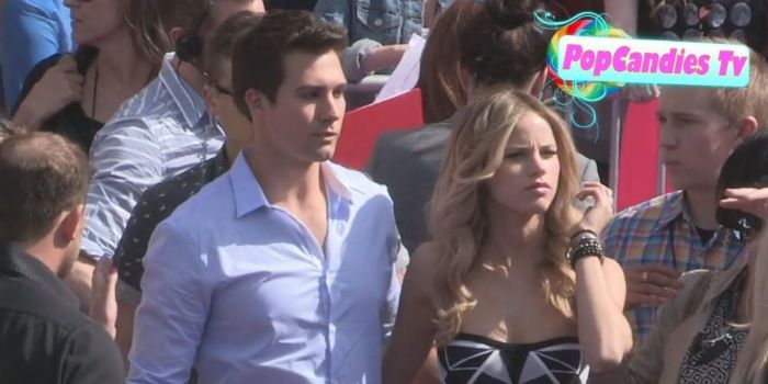 James Maslow and Halston Sage