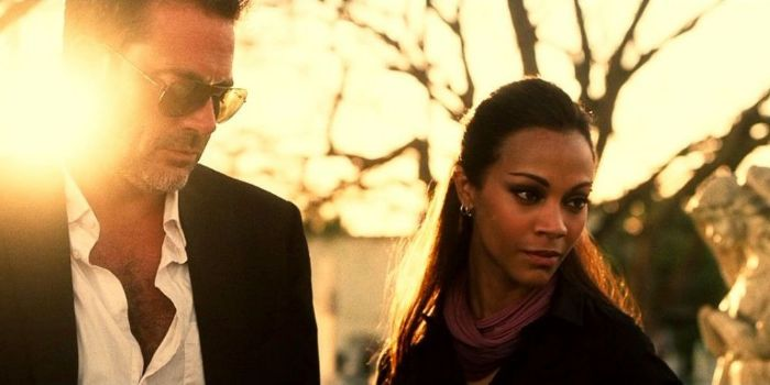 Jeffrey Dean Morgan and Zoe Saldana