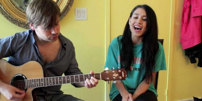 Cassie Steele and Mike Lobel