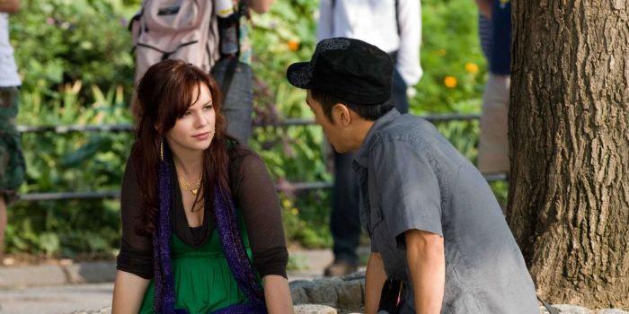 Leonardo Nam and Amber Tamblyn